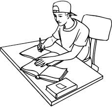 Resultado de imagem para desenhode homem estudando