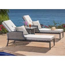 patio chaise lounge. Lago Brisa 3-piece Chaise Set Patio Lounge