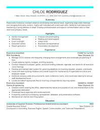 Executive Assistant Resume Objective School Administrator Resume Executive Assistant Resume Sample 44