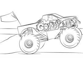 Small Picture Grinder Monster Truck coloring page Free Printable Coloring Pages