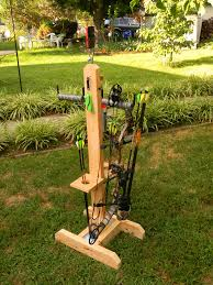 diy archery bow stand using 2x4 s ladder hangers 18 magnetic strip and diy
