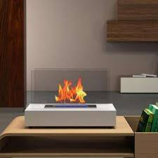 vent free ethanol fireplace in white