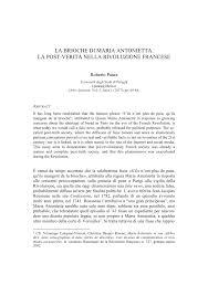 Pdf La Brioche Di Maria Antonietta La Post Verita Nella Rivoluzione Francese