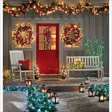window wreaths decorations vintage fresh lighted wreaths for outdoors wreath