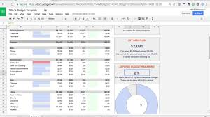 budget sheet template introducing the tiller budget spreadsheet template youtube