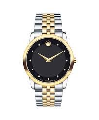 movado museum classic men s gold pvd watch movado us movado museum classic0606879 men s 40 mm bracelet watch front view