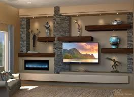 a floating shelves custom a wall design using hardwood shelves with undershelf lighting