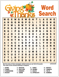 Giving Thanks Word Search In 2019 Thanksgiving Words
