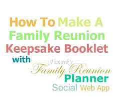 Family Reunion Program Templates Free Programs Sample Template