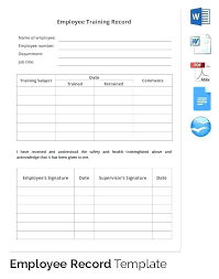 Training Tracking Template Mileage Tracking Template Inspirational Employee Ng Record