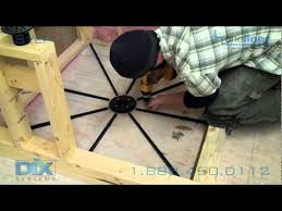 how to prep floor pre pitch mortar installation step 1 in dix systems oneliner