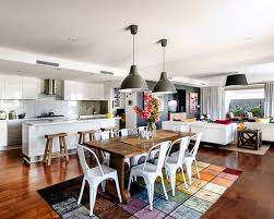 Kitchen  Attractive Small Apartment Kitchen And Open Plan Living Kitchen And Living Room Open Plan