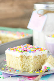 with homemade vanilla cake mix such a moist and easy cake to put together with