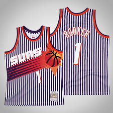 Keep checking back for the newest arrivals of. Devin Booker Striped Phoenix Suns Jersey Navy