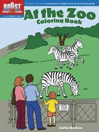 at the zoo coloring book by cathy beylon