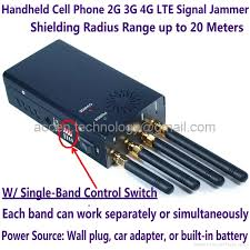 new 4 antenna handheld mobile phone 2g 3g 4g lte signal jammer w single control
