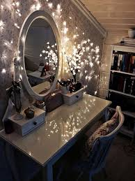 vanity table lighting. Romantic Styled Bedroom Decor And Design With Round Vanity Mirror Lights Using Simple Table Lighting