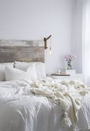 distressed white bedroom furniture. distressed white bedroom furniture in modern bohemian style with knitted blanket