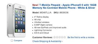 t mobile prepaid iphone 5 offered by best and walmart