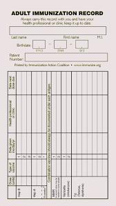 Blank Immunization Chart Free Immunization Schedule And Record Templates For Kids