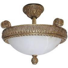 giltwood alabaster pendant ceiling light for