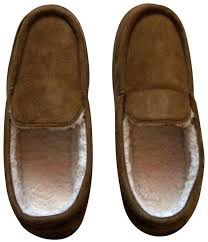 The Sharper Image Brown Memory Foam Unisex Slippers Size 8 9