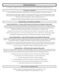 Technical Writer Resume Sample Free Resumes Tips