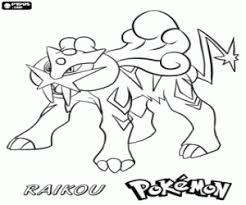 Kleurplaat Raikou Een Legendarische Pokémon Kleurplaten