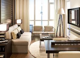 Even a small space can feel sophisticated ...