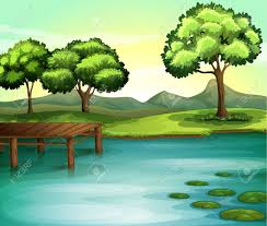lake drawing color. pin drawn lake beautiful environment #15 drawing color e