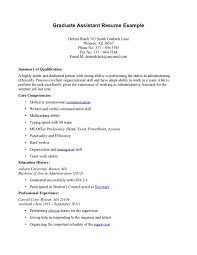 sample resume for graduate assistant position. graduate assistantship resume  gse bookbinder ...