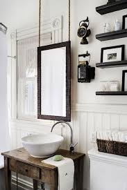 rustic chic bathroom ideas. Rustic Chic Bathroom Designs. Love The Hanging Mirror. I Could Also Hang A Small Ideas