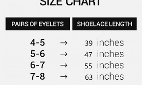 Nike Shoelace Length Chart Best Picture Of Chart Anyimage Org