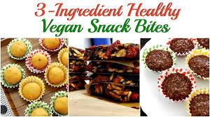 Vegan Bake Sale Recipes Must Try 3 Ingredient Vegan Snack Bites No Baking No Cooking