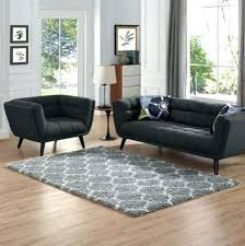 5x8 rug living room in trellis area gray and ivory lifestyle