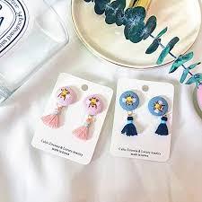 Early <b>autumn new Korean</b> cute tassel earrings puppy bee bee ...