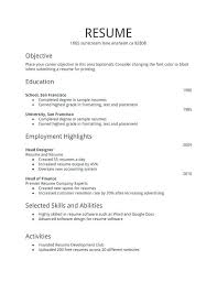 resume simple example simple sample resume format examples for students buckey us