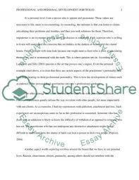 personal and professional development portfolio assignment  personal and professional development portfolio essay example