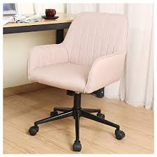 stylish desk chair. Zenith Stylish Office Chair Linen Fabric Mid Back Executive Home With Adjustable Height, Desk C