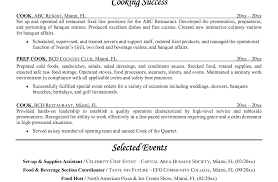 Chef Resume Sample Resume Sample For Cook 10 Prep Cook Resume