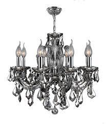 catherine 6 light chrome finish chrome crystal chandelier 20 d x 20 h