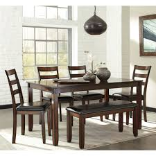 Ashley Furniture Kitchen Table And Chairs Ashley Furniture Coviar Dining Table Set In Brown Local