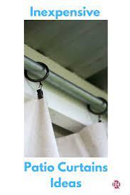 inexpensive patio curtain ideas