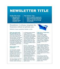 School Newsletter Template For Word 50 Free Newsletter Templates For Work School And Classroom