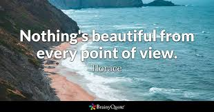 Beautiful View Quotes Best of Nothing's Beautiful From Every Point Of View Horace BrainyQuote