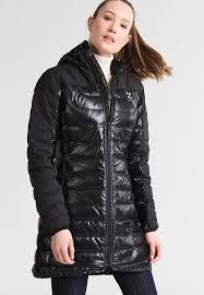 haglöfs bivvy ii down coat true black solid women sports clothing jackets gilets coats