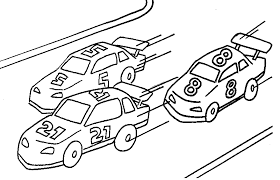 racing cars coloring page