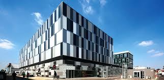 modern office building. Office Facade Design. Small Design Building Austria Exterior Compact Panel Modern L