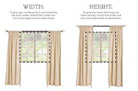 Curtain rods for small windows Front Door Drapery Really Finishes Off Room Giving It Polished Feel To Give Your Space The Illusion Of Height Or Width Follow This Helpful Guide Pinterest How To Hang Drapes Loves Pinterest Curtains Hanging Curtains