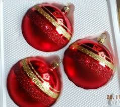 Christbaumkugeln Inge Glas 3er Set Rot Gold
